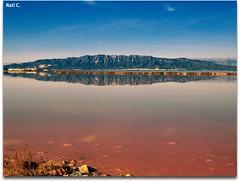 Reflejos en las Salinas de La Trinidad (Nati C.) Tags: naturaleza paisaje salinas reflejo catalunya tarragona deltadelebre parquenatural latrinidad frenteafrente ltytrx5