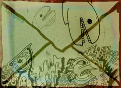 Envelope (MINIshent) Tags: lines weird random drawing teeth cartoon doodle envelope characters minishent