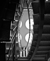 The 1701 Building, March 23, 2012 (Maggie Osterberg) Tags: bw architecture blackwhite nebraska lincoln fujifilm x100 maggieo silverefexpro2