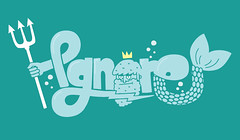 Aquaman! (lgnore) Tags: blue illustration design graphic adobe crown illustrator typo waterman ignore