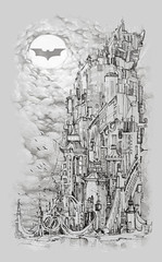 I am Gotham (Tolagunestro) Tags: city moon clouds grey tshirt batman gotham cinza darkknight designbyhumans tolagunestro lucasdealcantara