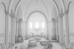 Derelict Church (jonathaneyre323) Tags: art church 3d render indoor clay disused derelict greyscale blender3d
