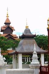 Thai Rooftops (pam's pics-) Tags: thailand hotel asia southeastasia rooftops lodging thai chiangmai oriental orient overnight fivestarhotel pammorris pamspics nikond40 orientaldharadevi