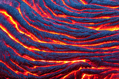 Born in Fire (Thorsten Scheuermann) Tags: vacation usa abstract hot color detail hawaii lava twilight glow hi bigisland ropes kilauea pelesbraids