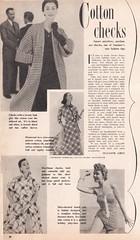 Checked inspiration 1954 (tuppencehapenny) Tags: inspiration magazine fifties scan gingham 1950s 50s plaid tartan checks