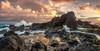 Hookipa Sunrise (mojo2u) Tags: ocean sunrise hawaii maui lavarock hookipa nikon2470mm nikond700