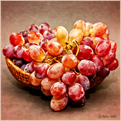 Grapes (Rebeca Mello) Tags: stilllife photoshop canon studio basket grapes uva grape cesta uvas cs5 canoneos50d rebecamello rebecamcmello magicunicornmasterpiece crimsongrapes uvascrimson