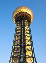Sunsphere (ken mccown) Tags: sky tower glass knoxville tennessee sphere sunsphere worldsfairpark truss communitytectonics