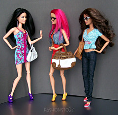 (Un)Pleasant Surprise, Pt. II (fashionisto2k) Tags: hair glasses dolls sassy barbie jeans teresa basics mattel fashionistas repaint raquelle f2k