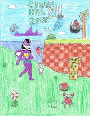 Melody in Green Hill Zone (GG) (PaladinDBoy) Tags: melody gamegear sonicthehedgehog