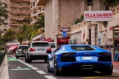 Aventador (Lambo8) Tags: blue horse france car canon eos photo hp italia power d s voiture monaco bleu mc coche lp posterior mk2 5d af gt lamborghini supercar rocher ch mkii markii v1