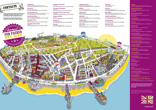 Blackpool Map Resort Attractions Map for Visit Blackpool