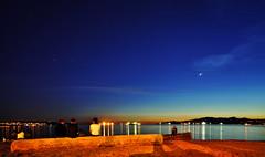 The Sun Goes Down, the Stars Come Out (sea turtle) Tags: blue sky canada beach water vancouver stars star bay twilight sand dusk britishcolumbia sony englishbay westend nex englishbaybeach nex3 sonynex3 sel18200