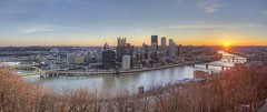 Sunrise panorama over Pittsburgh HDR (Dave DiCello) Tags: panorama beautiful skyline photoshop nikon pittsburgh tripod usxtower christmastree mtwashington northshore bluehour nikkor hdr highdynamicrange pncpark sunflare pittsburghpirates cs4 steelcity photomatix beautifulcities yinzer cityofbridges tonemapped theburgh pittsburgher colorefex cs5 ussteelbuilding beautifulskyline d700 thecityofbridges pittsburghphotography davedicello pittsburghcityofbridges steelscapes beautifulcitiesatnight hdrexposed picturesofpittsburgh cityofbridgesphotography