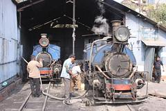 Darjeeling Himalayan Railway DHR Loco Shed Kurseong 10 march 2010 (leo spee) Tags: india westbengal indianrailways narrowgaugerailways dhr darjeelinghimalayanrailway