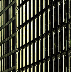 facade (morbs06) Tags: windows light shadow urban abstract detail monochrome lines architecture facade germany square geometry stripes diagonal dsseldorf cladding curtainwall kpf louvers