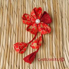 broches Kanzashi (Garumiru) Tags: broche flor artesanal kimono japon artesania tela complementos kanzashi garumiru