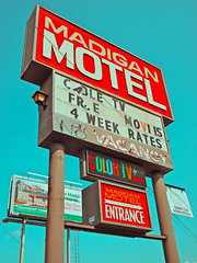 Retro signage () Tags: usa color history classic sign club america photography washington tv discount cool interesting highway state pacific northwest image good united picture free motel cable historic retro nostalgia international vision photograph 99 sound nostalgic americana local states roadside googie weekly vacancy hbo diners puget rates calls midcentury deals madigan