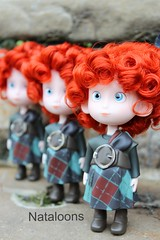 Disney Store Brave Triplets (Nataloons) Tags: red hair toy store doll devils mini disney hubert pixar brave wee celtic harris triplets hamish