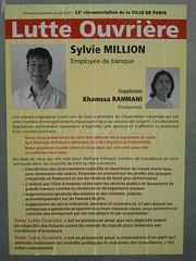 Sylvie Million (emmanuelsaussieraffiches) Tags: poster political politique affiche lutteouvrire