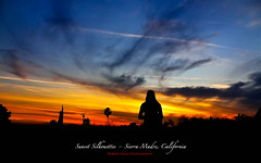 Sierra Madre Sunset Silhouette (RobertCross1 (off and on)) Tags: california trees sunset sky woman girl silhouette clouds landscape atardecer la losangeles dusk pasadena anochecer sierramadre puestadelsol mygearandme mygearandmepremium mygearandmebronze mygearandmesilver mygearandmegold mygearandmeplatinum