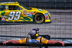 Officiating (Dwood Photography) Tags: green car monster yellow racetrack official international carl edwards dover mile speedway carledwards monstermile doverinternationalspeedway doverspeedway dwoodphotography dwoodphotographycom