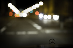 driving (Mr. Bastian) Tags: field night canon munich mnchen eos mercedes benz dof nacht bokeh mark iii 85mm 5d 12 depth myopic ludwigstrasse kurzsichtig 5dm3