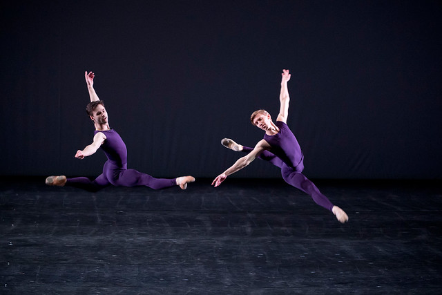 Dawid Trzensimiech and Alexander Campbell in Polyphonia © Bill Cooper/ROH 2012