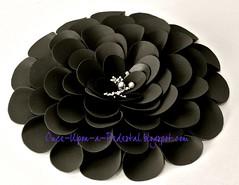 Black Fantasy Flower (Once Upon A Pedestal) Tags: black cake caketopper edibleflower fantasyflower frostingsheets onceuponapedestalblogspotcom wwwonceuponapedestalblogspotcom