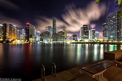 Miami (Eddie 11uisma) Tags: urban 3 seascape night canon landscape photography key long exposure cityscape miami mark l mandarin 5d usm oriental 1740mm f4 brickell