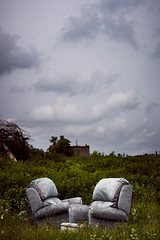 Growing Old Together (ReportageImages) Tags: leica old england strange grey day chairs top hill together growing wiltshire summilux m9 the 75mm at