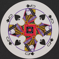 Round Playing Card Queen of Spades (Leo Reynolds) Tags: playing canon court eos iso100 queen deck card round squaredcircle 60mm f80 circular playingcard spades spade carddeck 0125sec 40d hpexif courtcard xleol30x sqset079