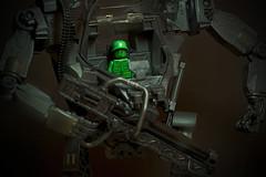 Lego Mech Warrior (Evan MacPhail Photography) Tags: green toy soldier lego avatar warrior mech