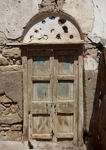 Door Of A Former Ottoman Empire House In Ruins, Berbera, Somaliland