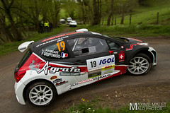 LCHL7184.jpg (Maxime Malet) Tags: france lyon rally rhne avril 19 rallye 2014 championnat cdf charbonnires sportautomobile frenchchampionship a7s lyoncharbonnires philippegreiffenberg laurentfourcade peugeot207s2