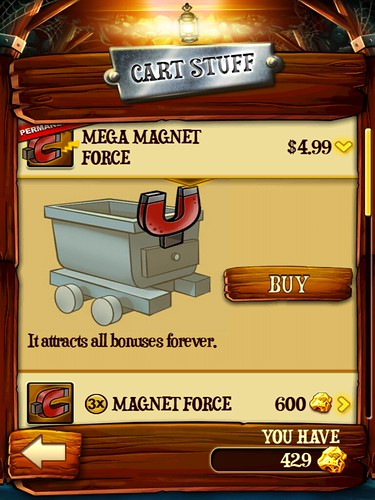 Rail Rush Items Store: screenshots, UI