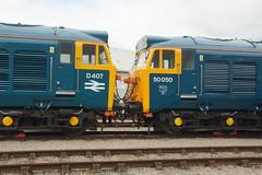 DSC06415 (Alexander Morley) Tags: st bristol 40th day open great railway philips class western marsh 40 50 hercules fearless hst d400 50007 d407 50050