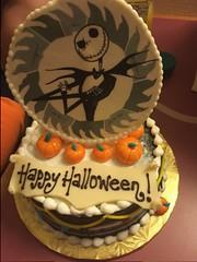 Jack Skellington Cake (DisneyTravelBabble.com) Tags: jackskellington nightmarebeforechristmas