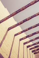(orwa_farran) Tags: city nyc blue shadow sky blackandwhite white art colors field lines architecture stairs studio landscape la artist outdoor geometry stadium horizon line depth doha qatar katara