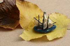 Navegando el otoo (leograttoni) Tags: autumn macro hoja toy leaf buenosaires barco ship interior otoo juguete laplata