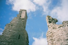 Reach for the sky (bigalid) Tags: sky castle film 35mm superia ruin plastic northumbria 400 april fujifilm xtra dunstanburgh 2016 c41 vuws superheadzwideandslim