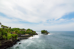 pray over the reef (Bramantiyo Marjuki) Tags: bali tourism indonesia temple limestone hindu tanahlot notch