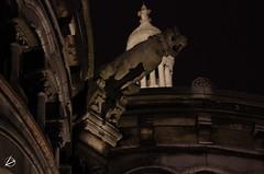 Gros plan sur une gargouille (ZONEBRU) Tags: paris montmartre sacrcoeur nuit gargouille basilique