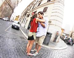When in Rome... (kirstiecat) Tags: italy rome roma love kiss kissing couple italia strangers romance lovers together moment embrace cinematic beautifulstrangers irisshiftblur