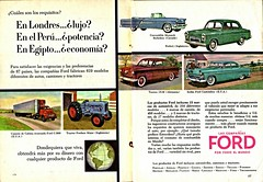 Ford Motor Co. Vehicles International Ad, 1955 (aldenjewell) Tags: england tractor canada ford sedan truck germany us ad convertible international monarch taunus prefect fordson richelieu 15m customline c800