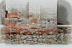 Brick Alley Backdrop poster (SimsShots Photography) Tags: old building brick architecture bricks rustic historical alleys timey fashioned