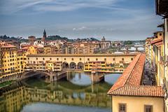 "The Ponte Vecchio ""Old Bridge"" and Arno River, Florence, Italy (Ray in Manila) Tags: bridge italy river florence europe roman historical pontevecchio mediaval arnoriver oldbridge eos650"