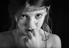 Don't Cry (sandraburns) Tags: portrait people 50mm blackwhite eyes nikon tears sad emotion crying cry tear d7000