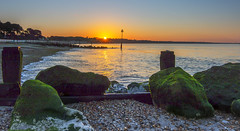 Avon Beach Sunrise (nicklucas2) Tags: avonbeach beach beachhut groyne rock sand sea seascape seaside sunrise