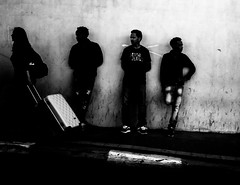 one out of three (Ran Elmaliach) Tags: street white black monochrome photography blackwhite gr ricoh ricohgr strret ranelmaliach